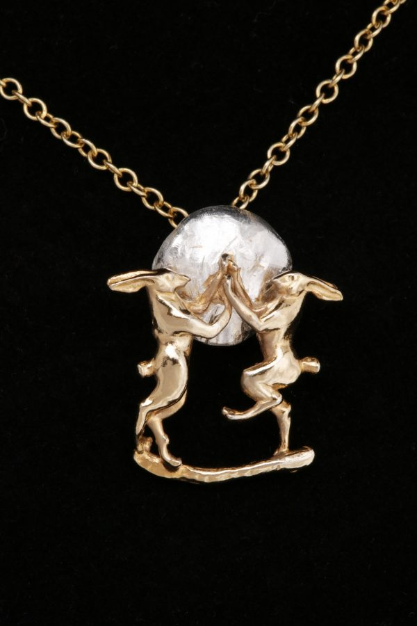 boxing hares pendant GS