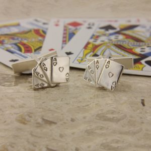 playing cards cufflinks ss