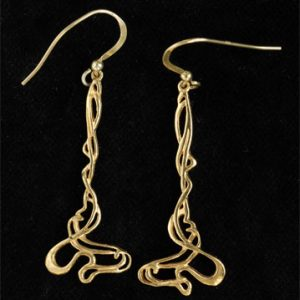 Art Nouveau earrings GP