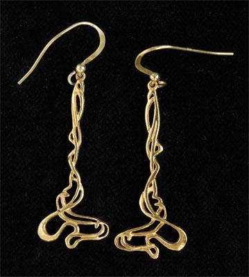 Art Nouveau earrings GP