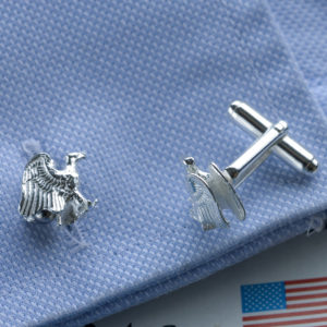 Silver American Eagles Cufflinks SS
