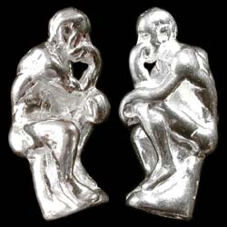 Rodins Thinker cufflinks SS