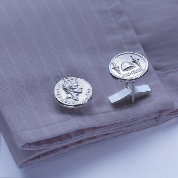 Roman Coin - Brutus and the Ides of March Cufflinks SS