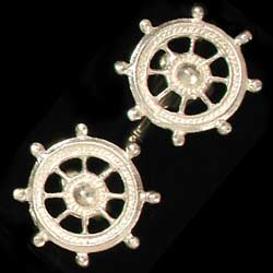 Ships Wheel cufflinks SS
