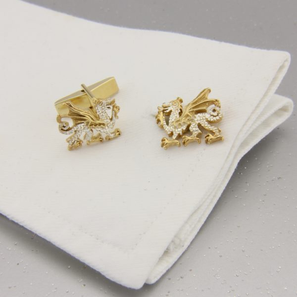 Welsh Dragon Cufflinks GS