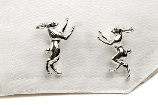 Boxing Hares Cufflinks SS