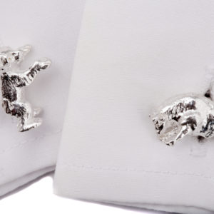 Bull and Bear Cufflinks SS