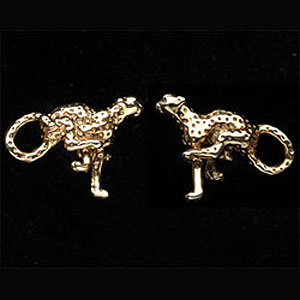 cheetah cufflinks G