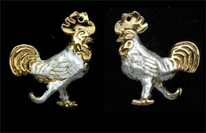 cockerel cufflinks GS