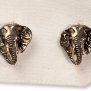 Elephant Head Cufflinks Black Rhodium on S