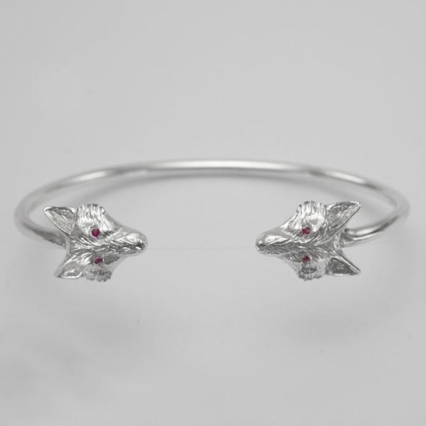fox bangle with rubies SS 3