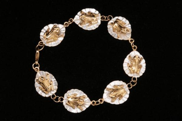 frog on a lilypad bracelet 1