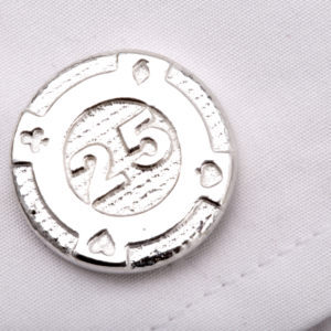 gambling chip cufflinks ss