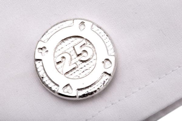 gambling chip cufflinks ss