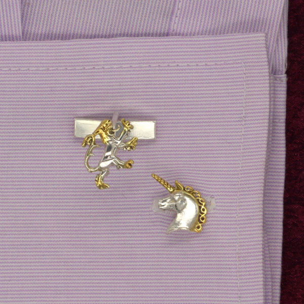 lion and unicorn cufflinks GS