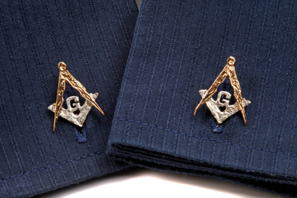Masonic Cufflinks with G GS