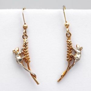 mice on corn earrings GS
