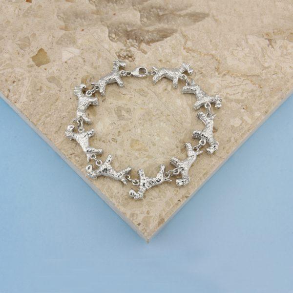schnauzer bracelet ss