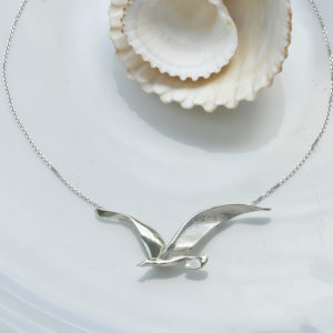 seagull necklace ss
