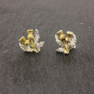thistle stud earrings GS