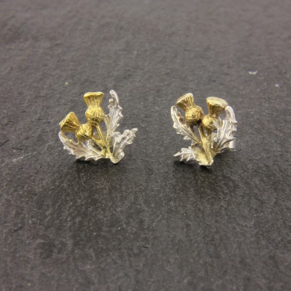 thistle stud earrings GS