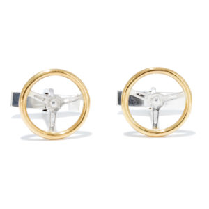 Vintage Steering Wheels Cufflinks GS