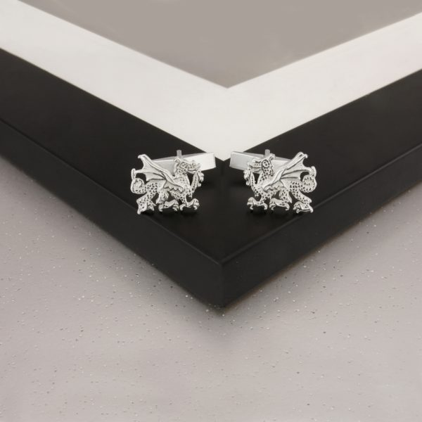 Welsh Dragon Cufflinks SS