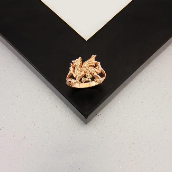 welsh dragon ring rose g