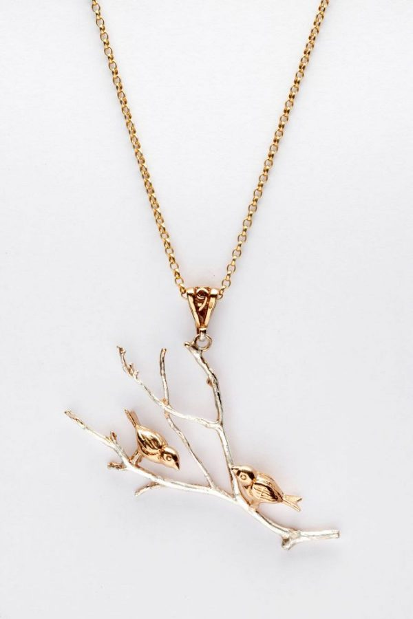 Birds on branch pendant GS