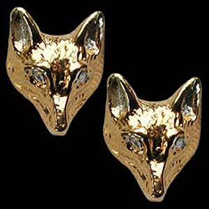 Fox head earrings GS