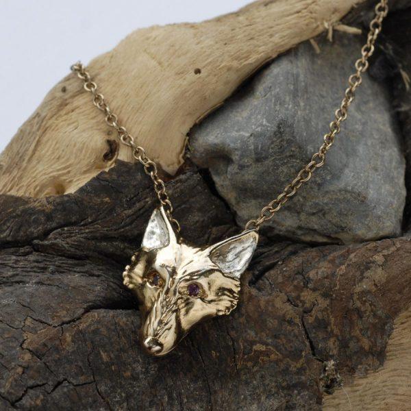 Fox head pendant and rubies GS