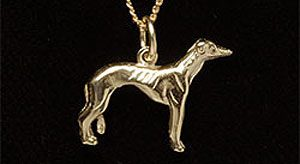 Greyhound pendant 9ct G