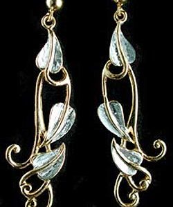 Long leaf earrings GS