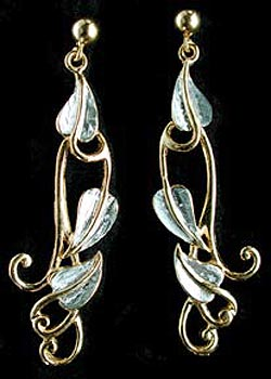 Long leaf earrings GS