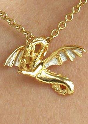Oriental dragon pendant GS