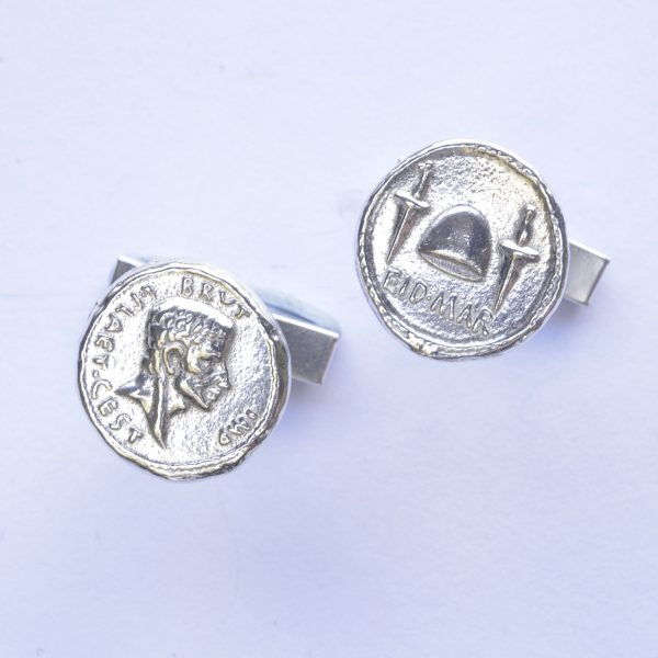 Roman coin - Brutus and the Ides of March cufflinks SS 2