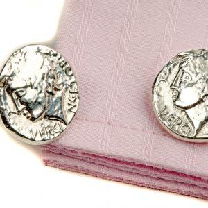 Roman coin cufflinks ss
