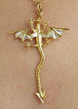 Single Dragon Pendant GS