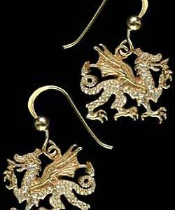 Welsh Dragon Earrings GS