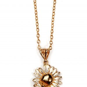 bee and daisy pendant GS