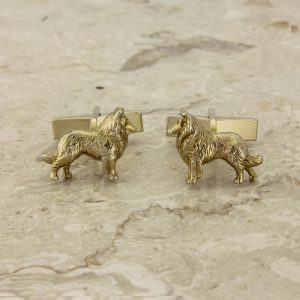border collie cufflinks GP