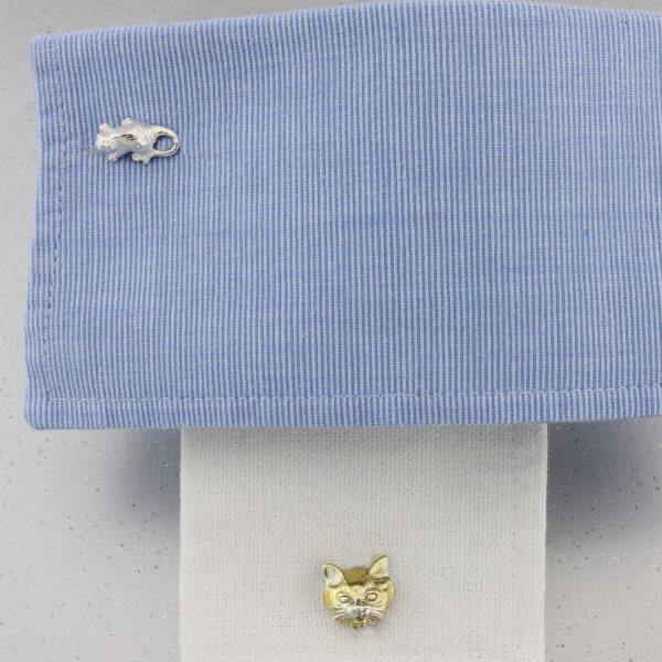 cat and mouse cufflinks GS