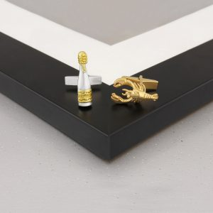 champagne and lobster cufflinks GS 2