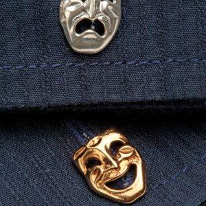 comedy tragedy cufflinks GS