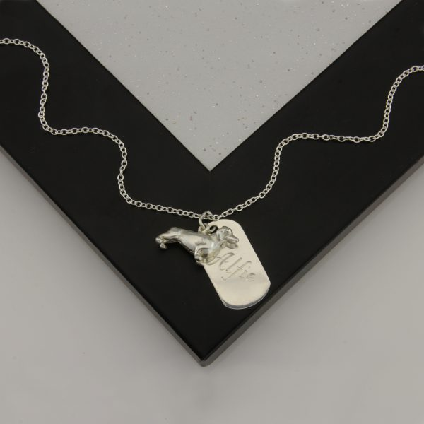 dachshund pendant with tag ss 2
