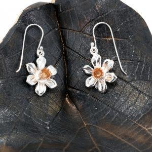 daffodil earrings rose gs