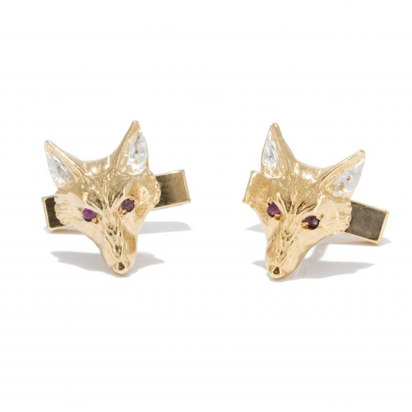 fox head cufflinks with rubies gs 2