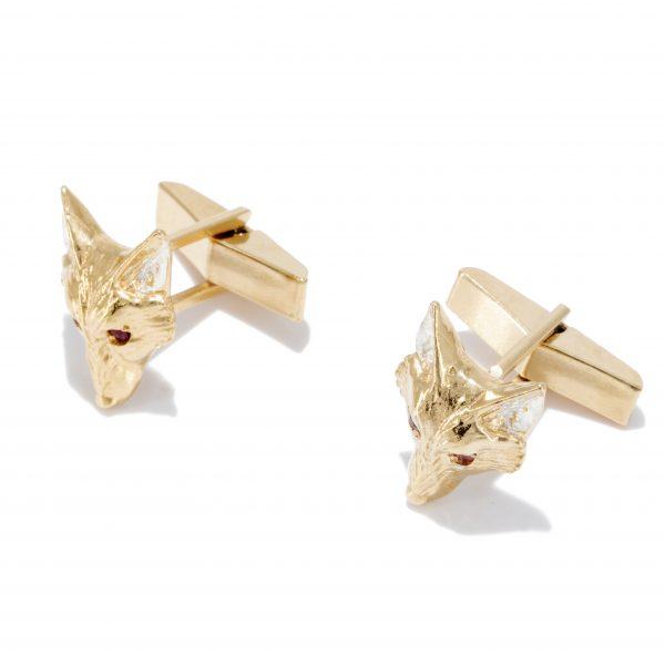 fox head cufflinks with rubies gs 3