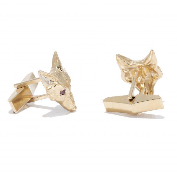 fox head cufflinks with rubies gs 4