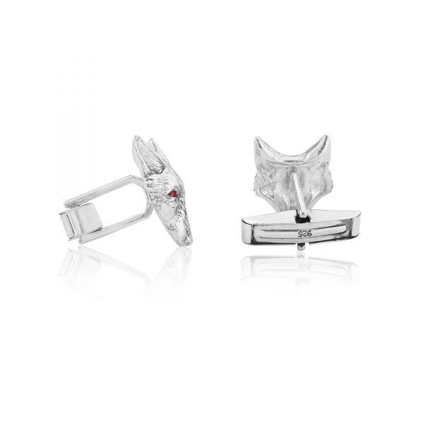 fox head cufflinks with rubies ss 3